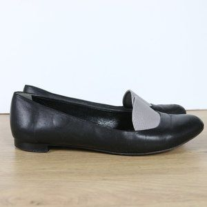 FENDI Leather Ballet Flats Made In Italy